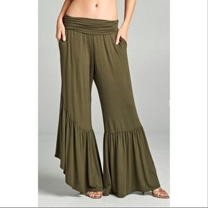 ⭐️ NEW BOHO LOOSE FIT PALAZZO PANTS WITH POCKETS